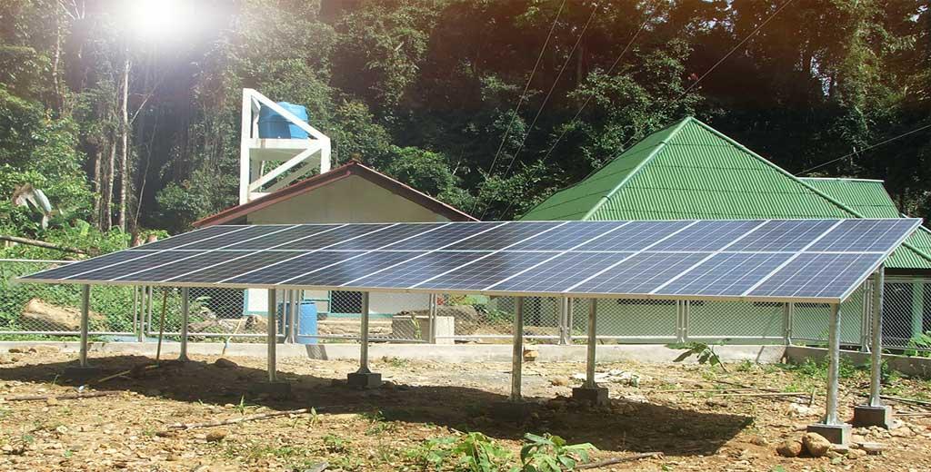 ระบบพลังงานแสงอาทิตย์ 3KW ชาร์จแบตเตอรี่ Offgrid ติดตั้งหน่วยพิทักษ์สัตว์ป่า