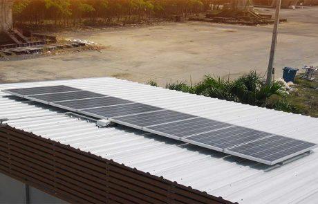 ระบบ Solarcell แบบ offgrid ชาร์จแบตเตอรี่ 1กิโลวัตต์ ติดตั้งศูนย์อบรมบริษัทอิตาเลี่ยนไทย