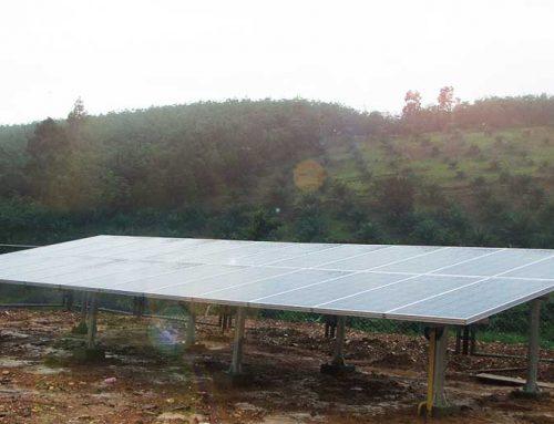ระบบพลังงานแสงอาทิตย์ ชาร์จแบตเตอรี่ offgrid 3KW เขตรักษาพันธุ์สัตว์ป่า