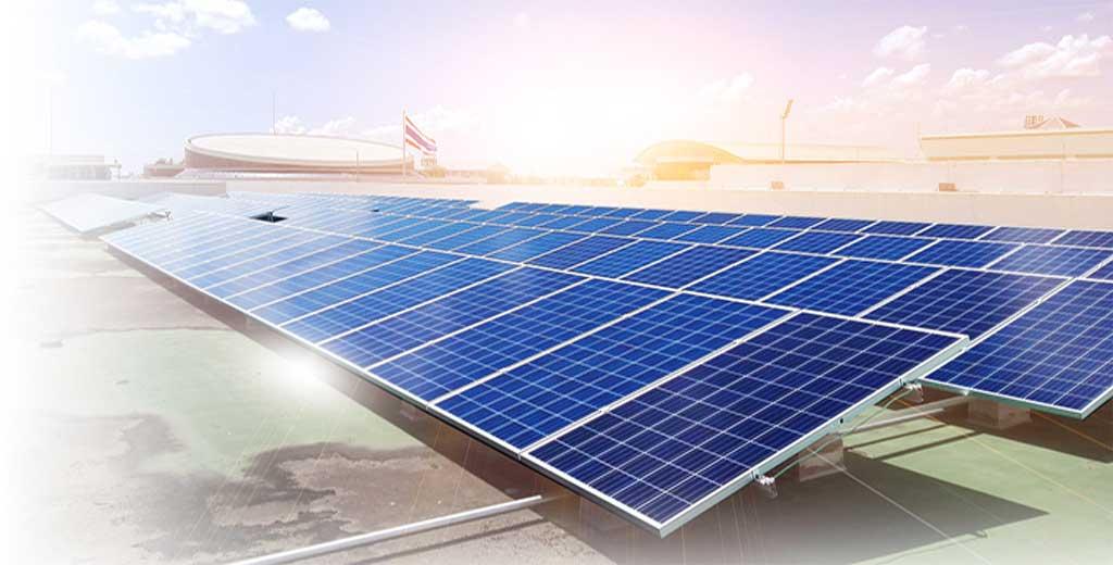 ระบบ Solarcell แบบ Ongrid ใช้แผงโซล่าเซลแบบ Poly Seraphim Solar กริดอินเวอร์เตอร์ SMA ติดตั้งบนหลังคา