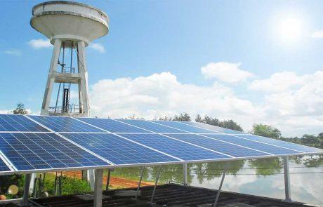 ระบบสูบน้ำพลังงานแสงอาทิตย์ ขนาด 3KW สำหรับระบบประปาหมู่บ้าน