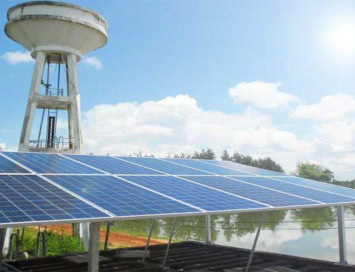 ระบบสูบน้ำพลังงานแสงอาทิตย์ ประปาหมู่บ้าน 3KW