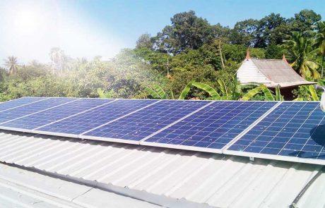 ระบบ Solarcell ติดตั้งสำหรับบ้านพักอาศัย