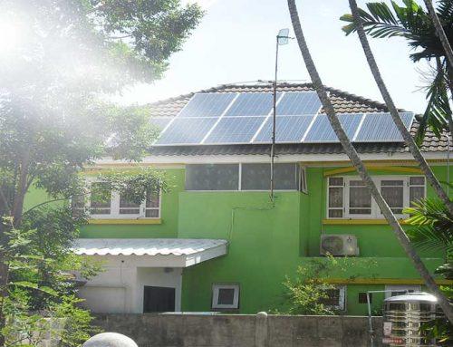 ระบบโซล่าเซลบ้านพักอาศัยขายคืนไฟฟ้าขนาด 10กิโลวัตต์
