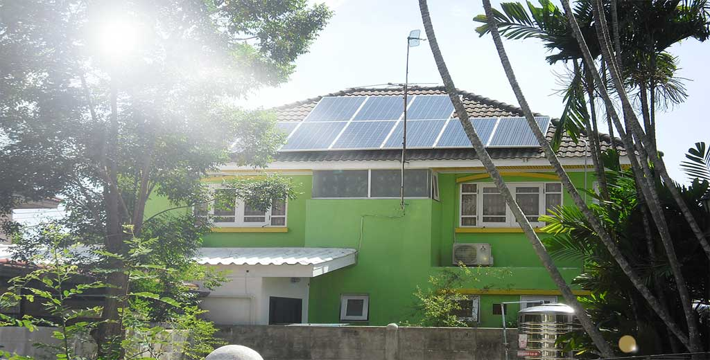 ระบบ Solarcell แบบ ออนกริด ติดตั้งสำหรับบ้านพักอาศัย