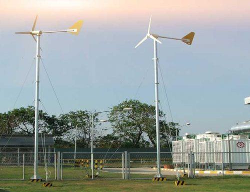ติดตั้งกังหันลมผลิตไฟฟ้า 1กิโลวัตต์ บริษัท CPF
