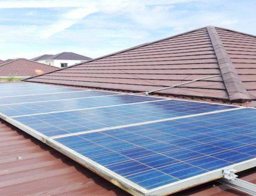 Solar roof บ้านพักอาศัย 3KW ใช้ไฟฟ้าฟรี เหลือขายคืนการไฟฟ้า